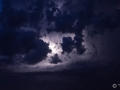 Paris Blitz Himmel