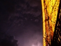 Paris Eiffelturm Blitz lila
