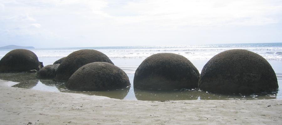 Neuseeland Moraki Boulders