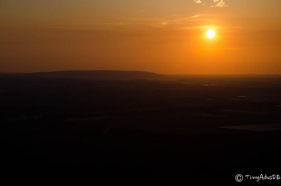 Ballonfahrt Sonnenuntergang