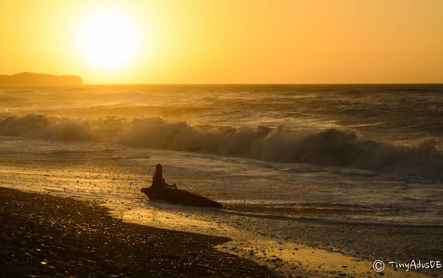 Gillespies Beach Sonnenuntergang