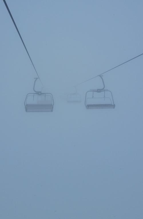 Skilift Nebel